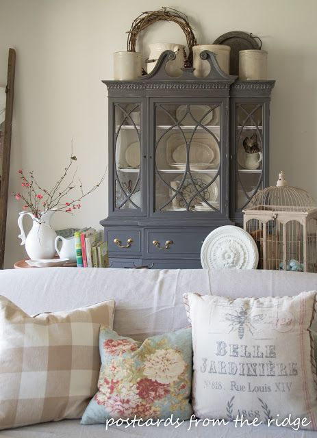 Hutch Makeover Farmhouse Dining Rooms