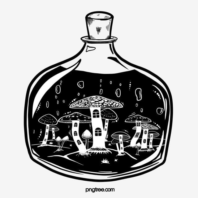 Hand Drawn Mushroom House Potion Bottle Hand Painted Bottle Potion Png Transparent Clipart Image And Psd File For Free Download Stuffed Mushrooms How To Draw Hands Purple Wallpaper Iphone