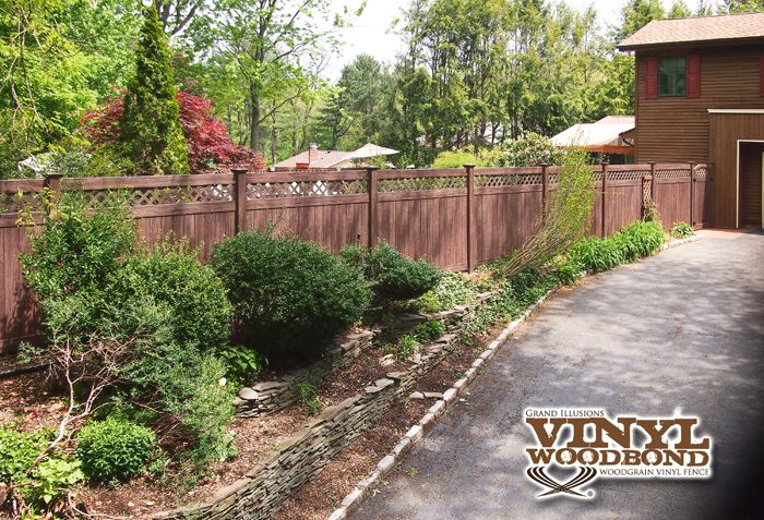 Low Maintenance Wood Fence At Its Best! Grand Illusions
