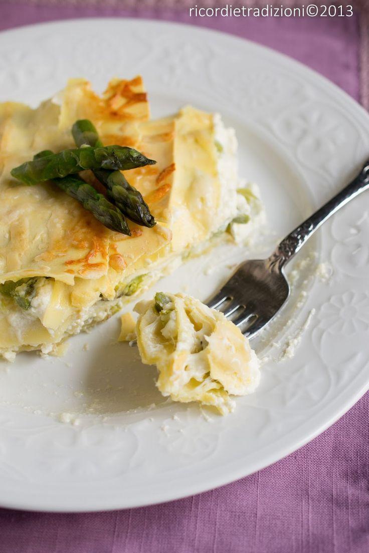 Lasagne con asparagi, crema di ricotta e provola affumicata   Ricordi e Tradizioni