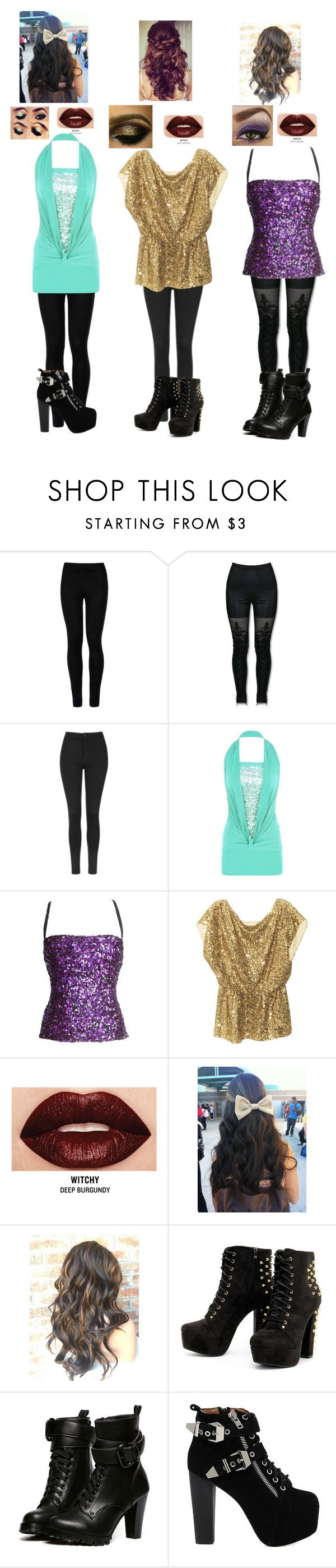 """Group Outfit #49"" by megalee ❤ liked on Polyvore featuring Wolford, MACBETH, Topshop, WearAll, Dolce&Gabbana, Alice + Olivia, Smashbox, WithChic and Jeffrey Campbell"