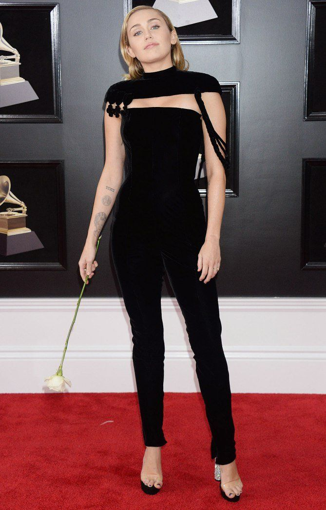 Grammy Awards 2018 Best Dressed on the Red Carpet at the Grammys - Miley Cyrus