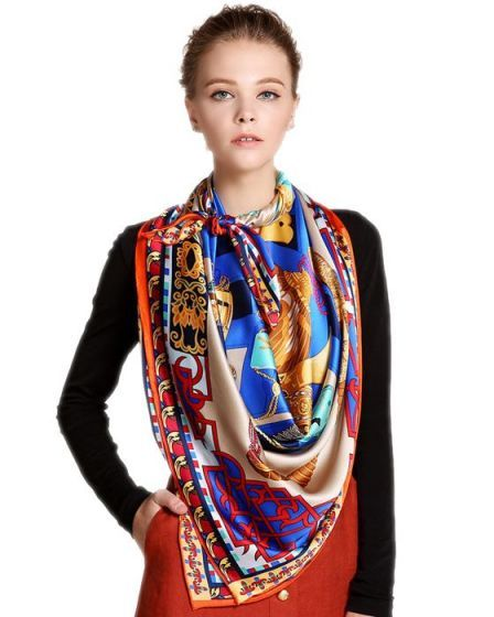 Silk Square Scarf - Jaunty by VIDA VIDA VwtJLPCp2O