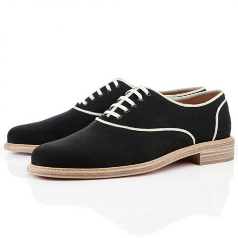 Christian Louboutin Havana Mens Flat Sneakers Black