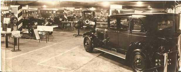 1926 Cambridge Auto Show in the G.F. Smith building at 1023 Wheeling Avenue. Jennifer Hough Reed photo.