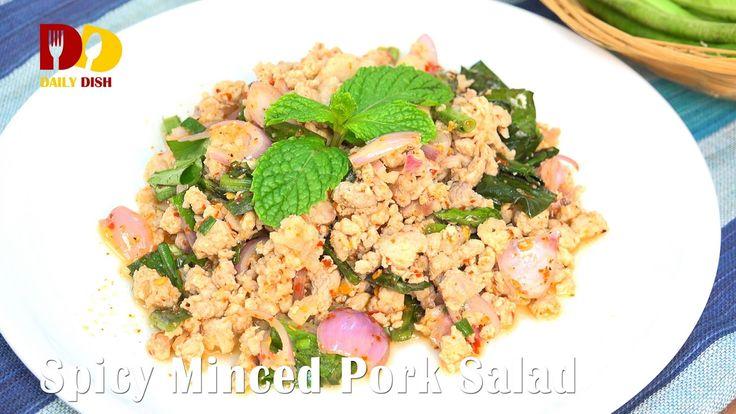 Spicy Minced Pork Salad (Thai Food) ลาบหมู   Larb Moo