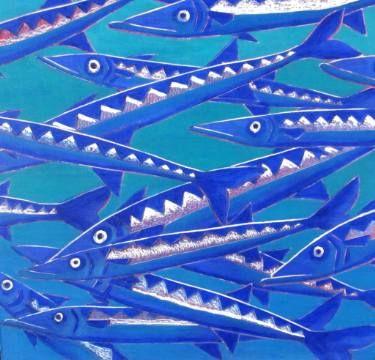 """Saatchi Art Artist Karlijn Surminski; Painting, """"Barracudas"""" #art"""