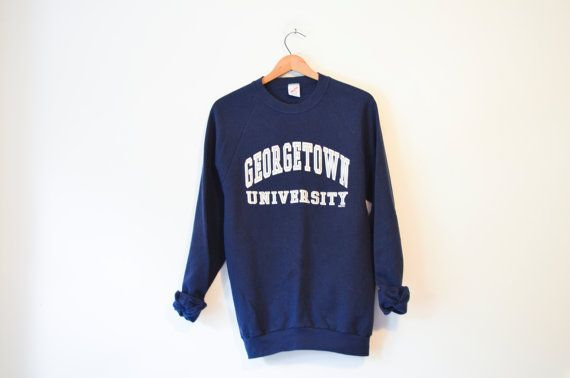 Vintage Blue Hoyas Georgetown University Sweatshirt
