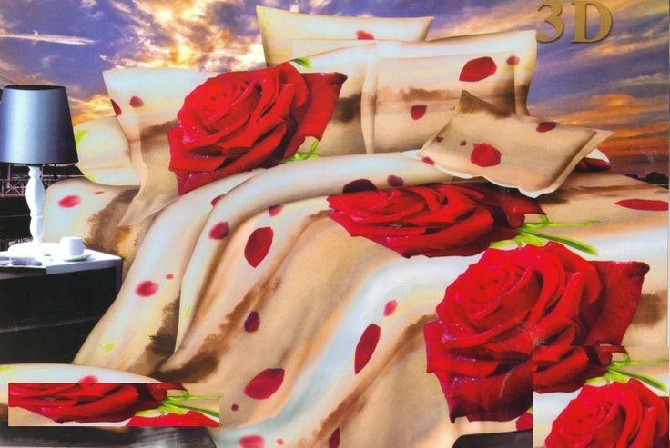 Béžové posteľné obliečky s ružami