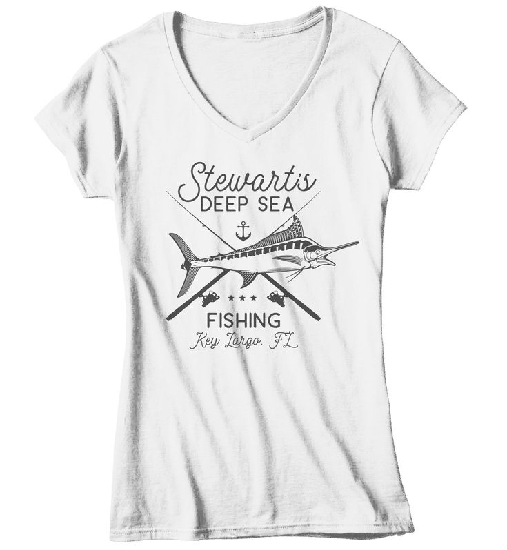 Women's Personalized Fishing T Shirt Deep Sea Fishing Shirts Custom T Shirt Swordfish Fishing Shirt Vintage Tee 3