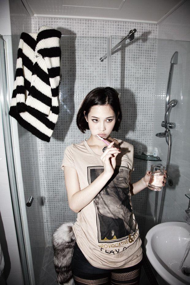 kiko mizuhara. she makes short black hair look so cute