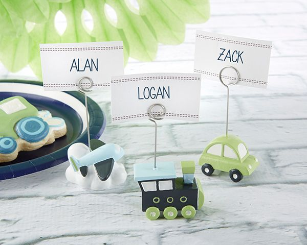 Precious Cargo Transportation Place Card Holders - Assorted (Set of 6) #partyfavor #placecardholder #birthday