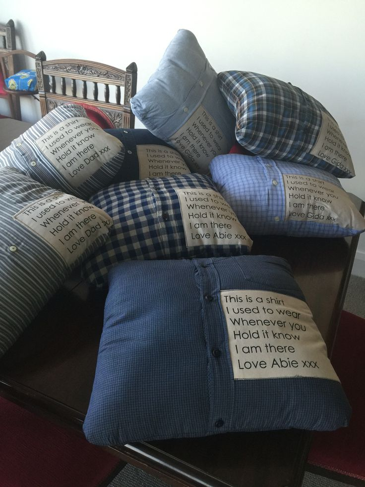 Mourning comfort cushions