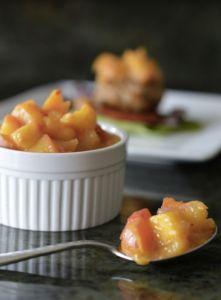 Perzik mango chutney