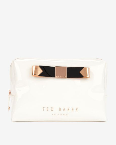 Large bow wash bag - Cream   Wash & Make up Bags   Ted Baker ROW