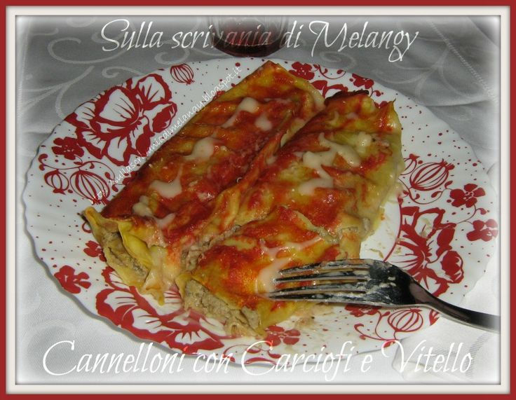 Cannelloni con carne e carciofi