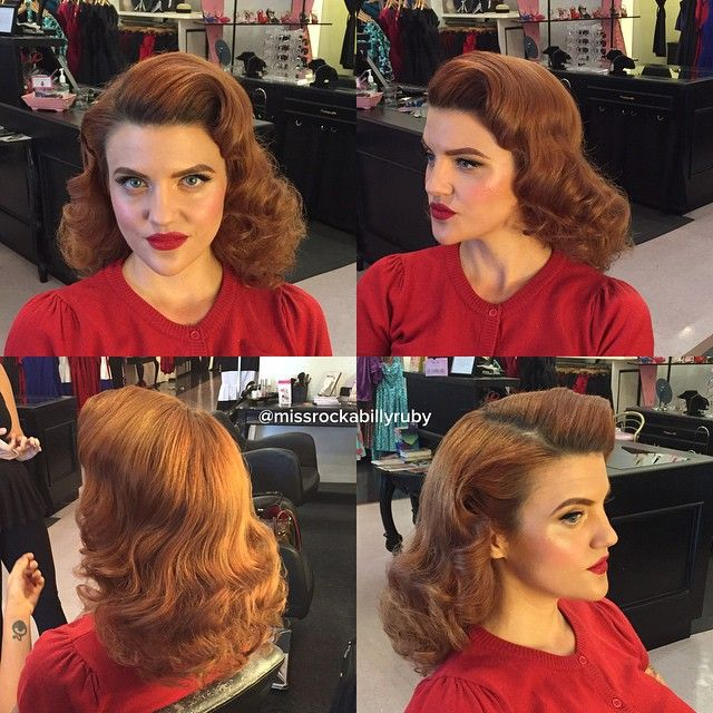 Shoot day with @hollywestphotography! Our first client was @_thinlizzy_! Hair by me #missrockabillyruby and makeup by @erikareno_artistry #pinup #pinuphair #retro #retrohair #vintage #vintagehair #missruby #hairbymissruby