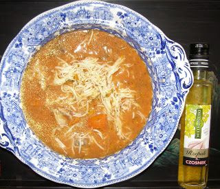 W Mojej Kuchni Lubię.. : szybka pomidorowa zupa z olejem rzepakowym czosnek...