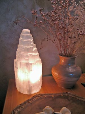 White Selenite Lamp. We already have a Himalayan salt crystal lamp, having a selenite one would be magnificent.