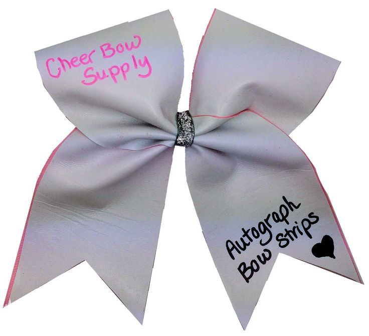 Make Autograph Cheer Bows With Bow Strips From Cheer Bow Supply.