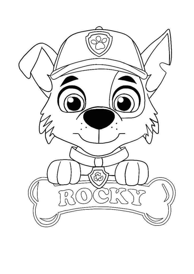 Paw Patrol Rocky Coloring Page Paw Patrol Coloring Pages Paw Patrol Coloring Paw Patrol Rocky