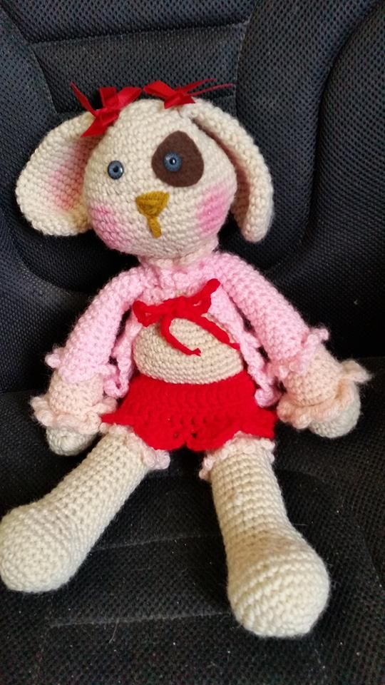 nava the girl rabbit amigurumi. a birthday gift for my 86 old grandmother!!