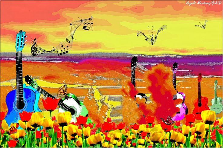 Gabriela Mistral y Violeta Parra: OCASO DE GUITARRAS Y VIOLETA PARRA Y SU GUITARRA EN EL OCASO DE SU VIDA - M. ANGELS MARTÍNEZ (ESPAÑA)