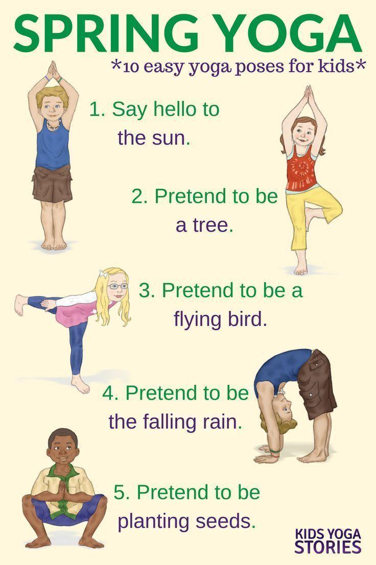 Yoga For Spring Printable Poster Poses Yoga Enfants Yoga Enfant Pose Yoga