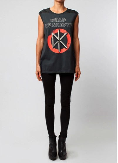 DEAD KENNEDYS BEADED BACKLESS TOP