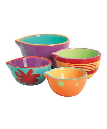 Loving this Four-Piece Measuring Cup Set on #zulily! #zulilyfinds