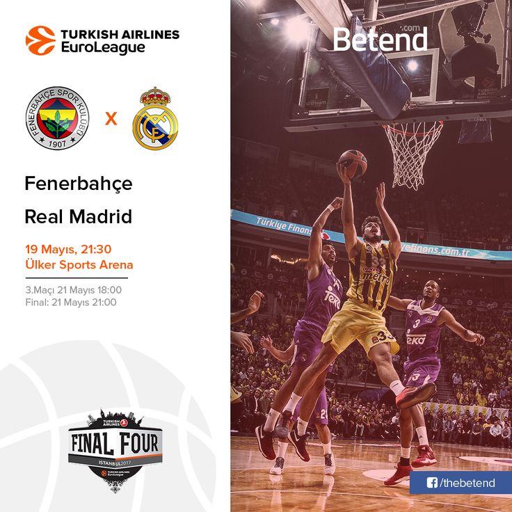 Fenerbahçe – Real Madrid #Euroleague Final Four heyecanı bugün başlıyor. Şampiyonluk mücadelesinde kalan tek temsilcimiz #Fenerbahçe bugün #RealMadrid ile karşı karşıya geliyor. Kazanan ekibin 21 Mayıs'ta final oynayacağı bu zorlu mücadelede galip gelen kim olabilecek. #Basketbol severler için #Enyüksekbahisoranları ve maç esnasında #Canlıbahis seçeneklerimiz #Betend'de sizlerle. Bugün: 21.00 http://betend800.com