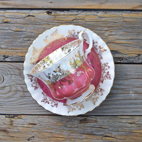 Royal Albert teacup and saucer Regal series bone china #RoyalAlbert #Regal #teacup #teaparty #vintage