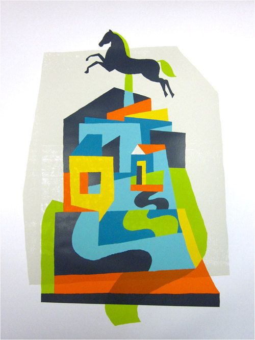 largemammal: The Roads, Studios Apartment, Art Prints, Kevin Mercer Colour, Artists Houses, Artists Inspiration, Colour Inspiration, Colors Screenprint, Homes