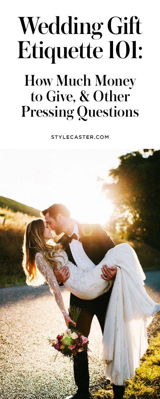 Wedding gift etiquette guide | @stylecaster | StyleCaster