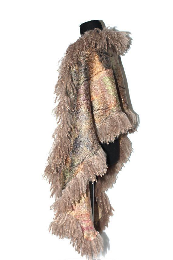 Felted Scarf Wrap Fur Free