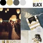 Color Story | Shades of Black + Gold