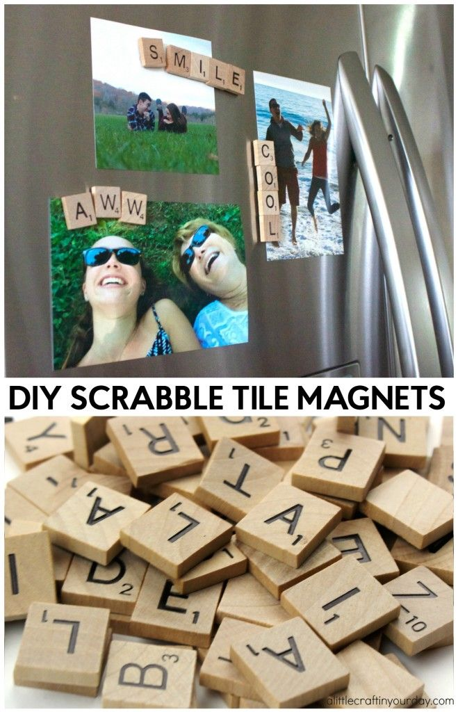 DIY Scrabble Tile Magnets - A Little Craft In Your DayA Little Craft In Your Day