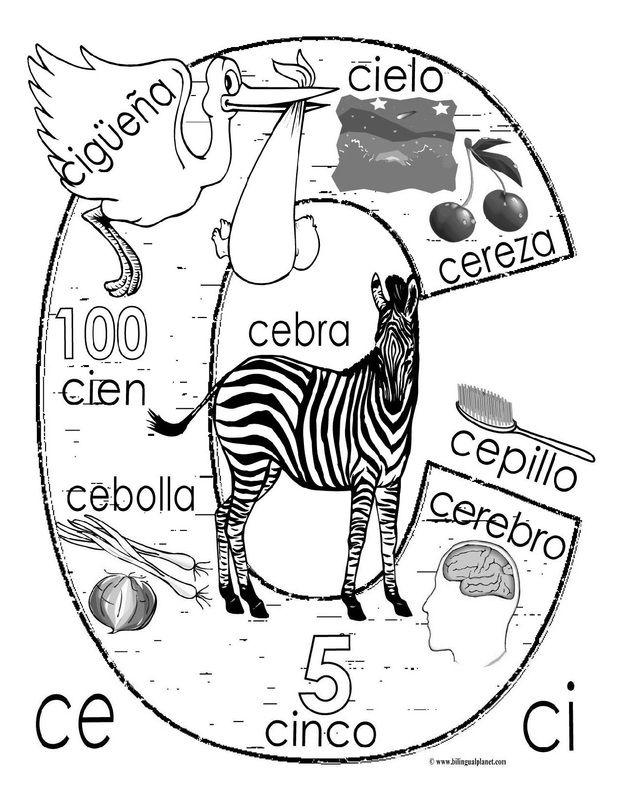 """""""C"""" coloring page                                                                                                                                                                                 Más"""