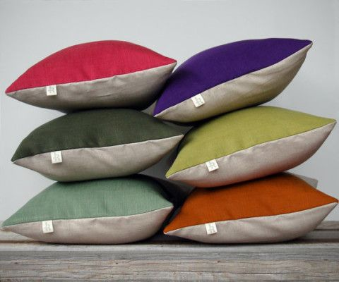 Fall 2013 Colorblock Pillow | Custom Colors | Autumn Home Decor | by JillianReneDecor | Color Block Pillow | Pantone | Silk Road Inspired