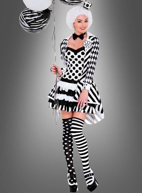 Clown Schwarz Weiss Bei Kostumpalast De Ideen Fur Karneval In