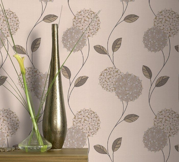 Pippa Cream / Stone Wallpaper by Graham and Brown