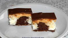 Fotorecept: Kokosovo-čokoládové rezy