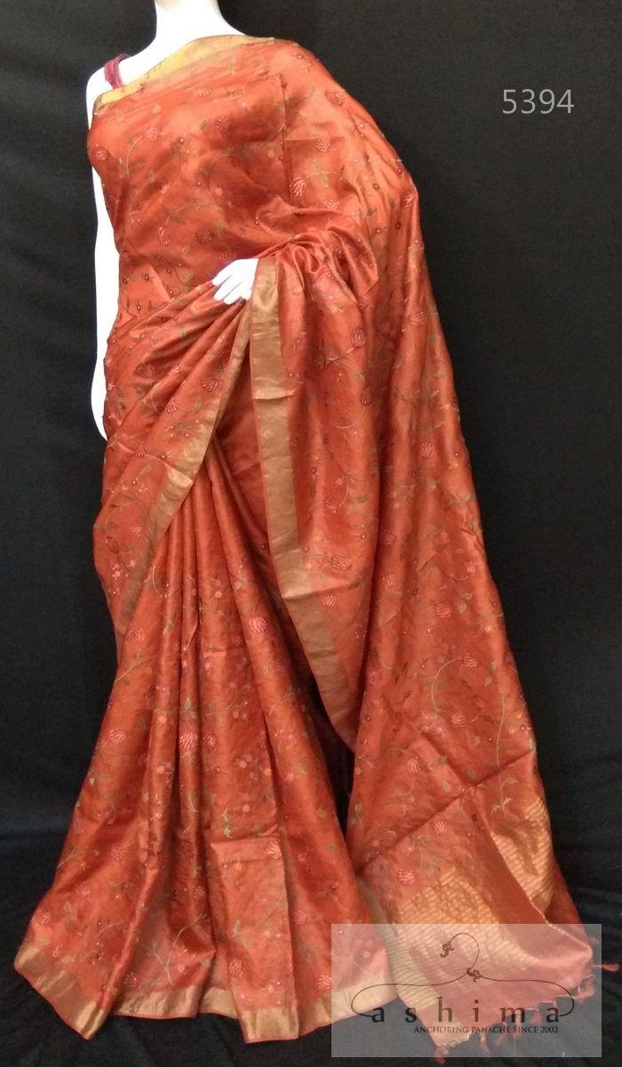 Pure silk saree 2018 tussar silk saree  in   sarees ready to ship  pinterest
