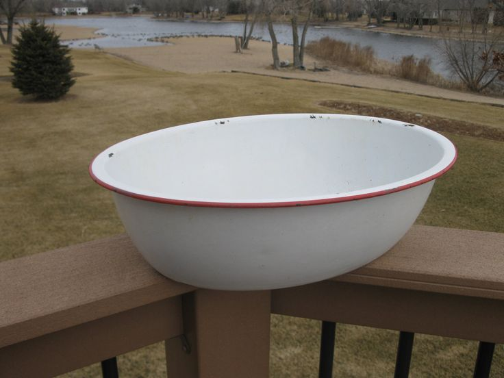 Vintage Enamelware Baby Bath Tub 17 Quot X 13 Quot Large Oval