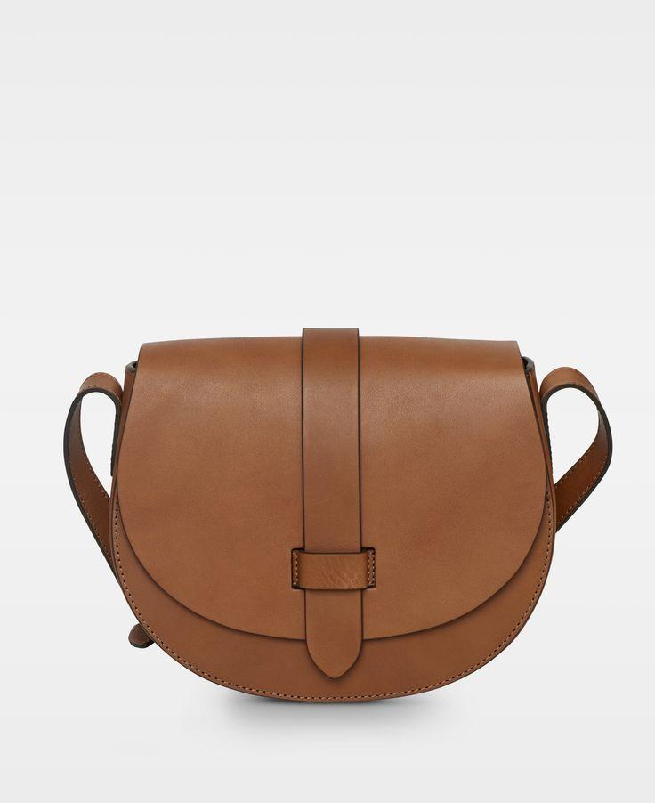 DECADENT Kaya small satchel bag, cognac