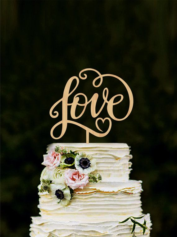 Love Wedding Cake Topper Unique Cake Toppers For Weddings