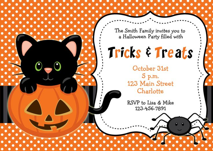 party invitations halloween birthday party invitations free - Halloween Themed Birthday Party