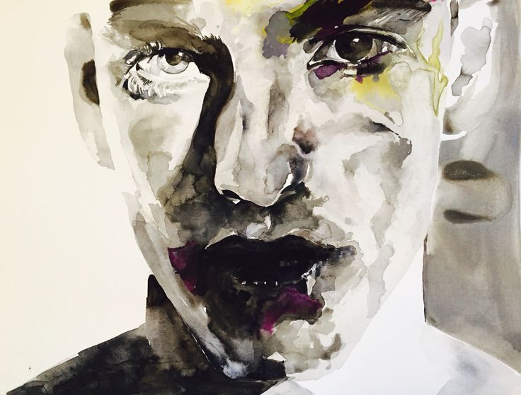 The Lost Boys #1 Watercolour on paper Karin Dando