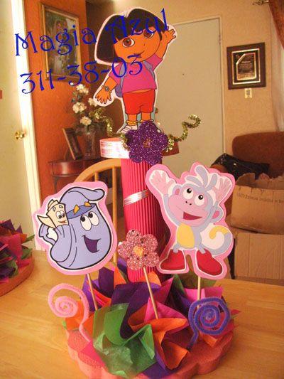 centro de mesa de Dora