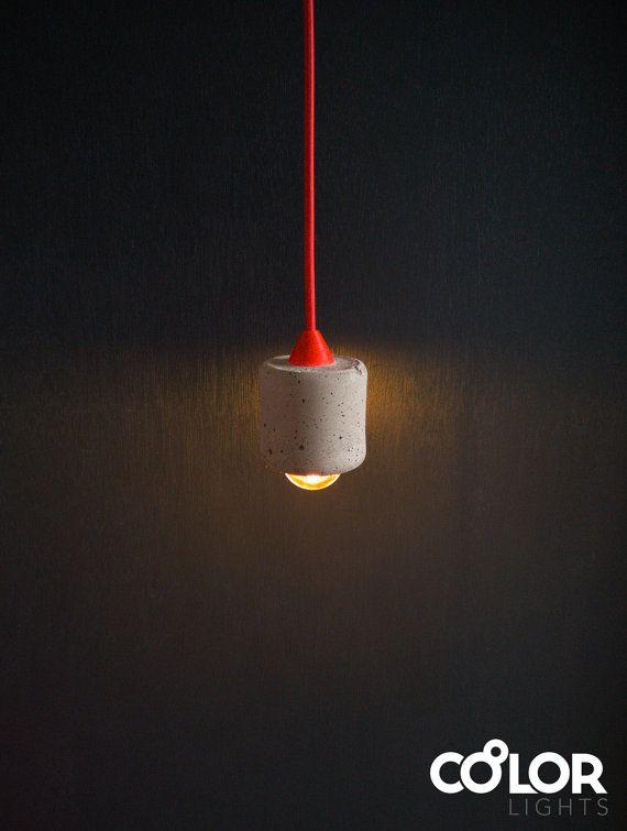Colourful Concrete Pendant Light on Etsy   #concretelamp #concrete_light #concrete #pendantlight